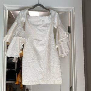 Dresses & Skirts - White bell sleeve dress